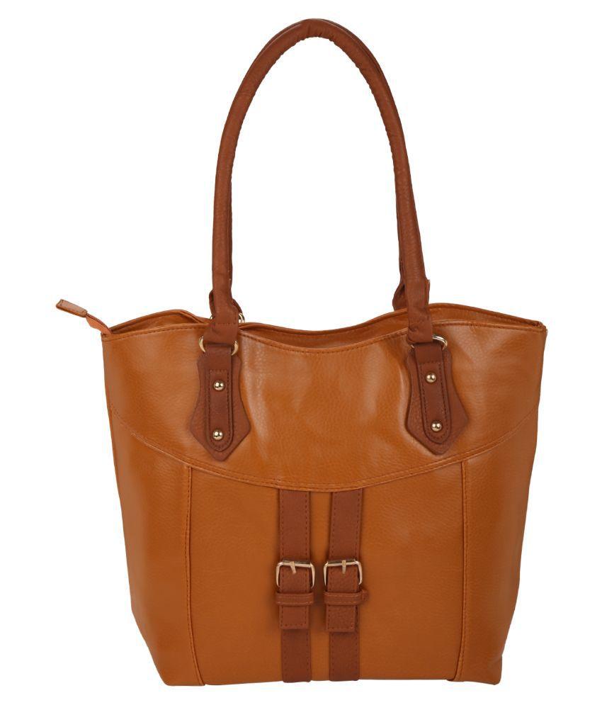 Satchel Bags & Accessories Brown P.U. Shoulder Bag