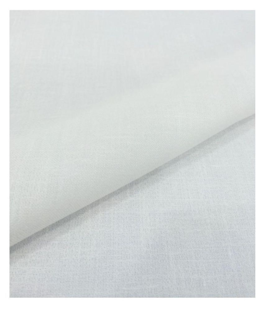 Siyaram's White Linen Unstitched Shirt pc