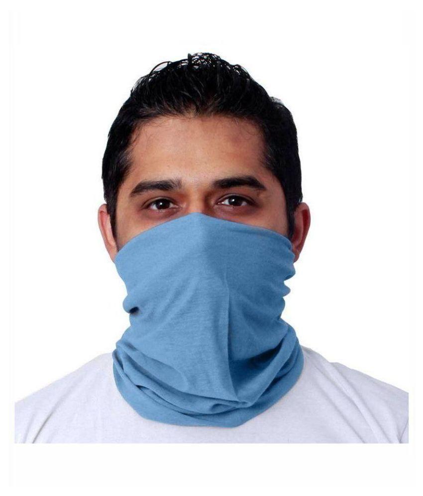 Jazzmyride Blue Cotton Headwrap for Men