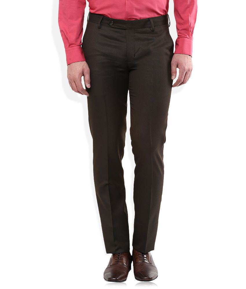 John Players Brown Formals Trouser