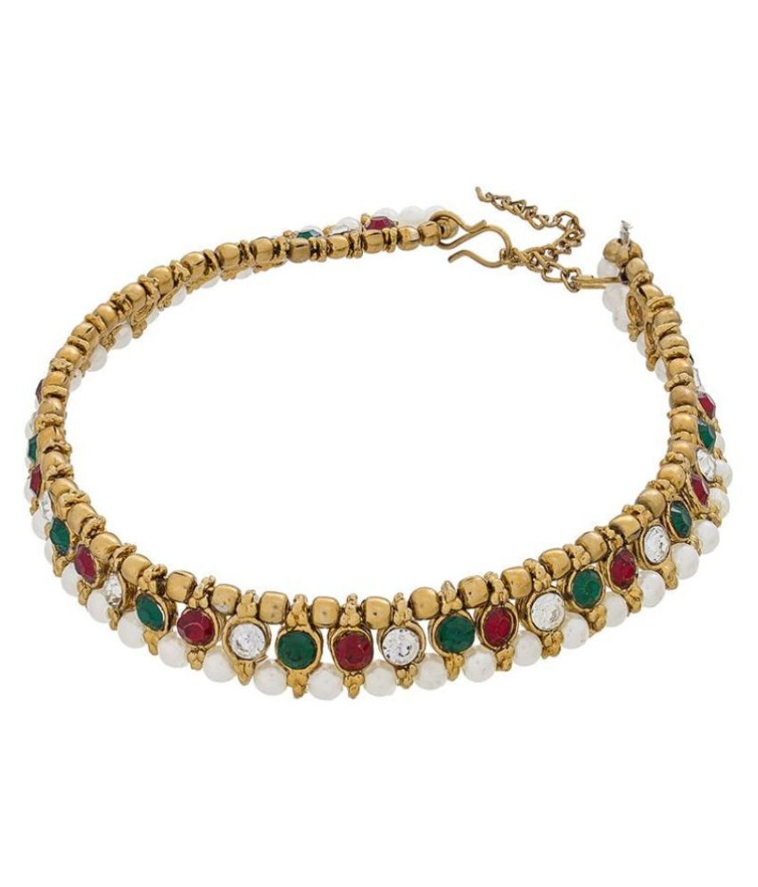 The Luxor Multicolour Alloy Pair of Anklets