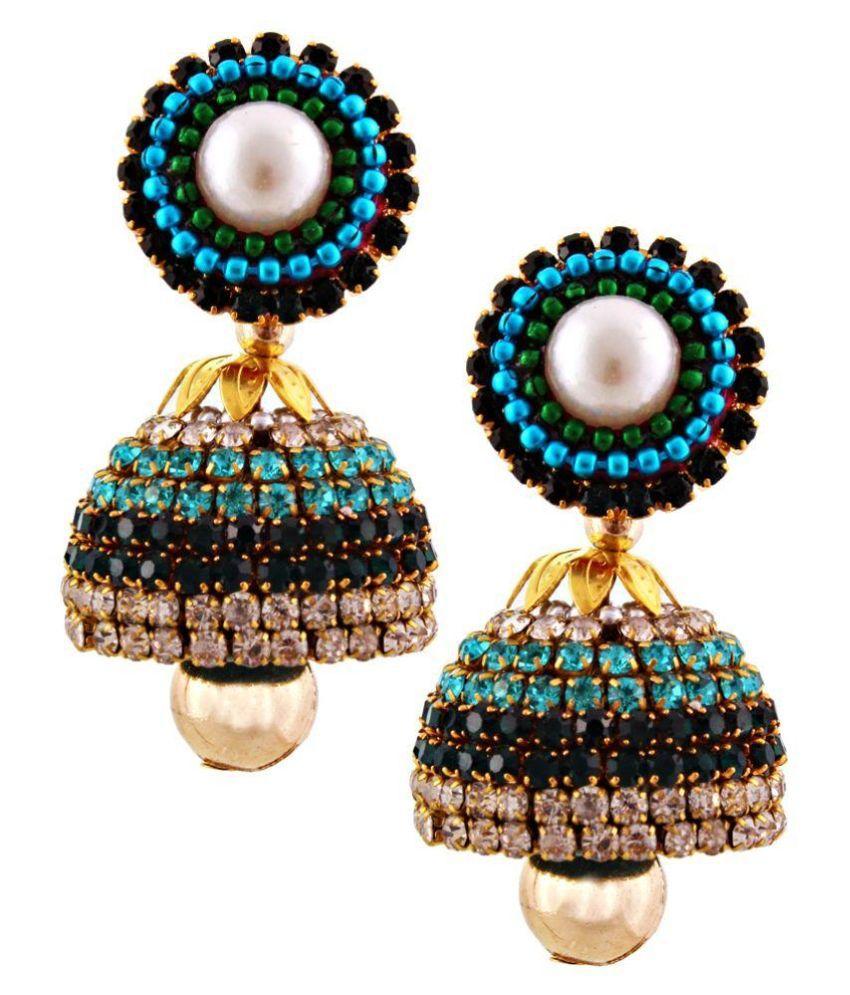 Yogya Mart Beads Studded Multi Coloured Earrings