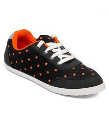 Asian Shoes Black Casual Shoes