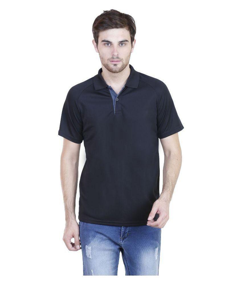 Adidas Black Polo T Shirts