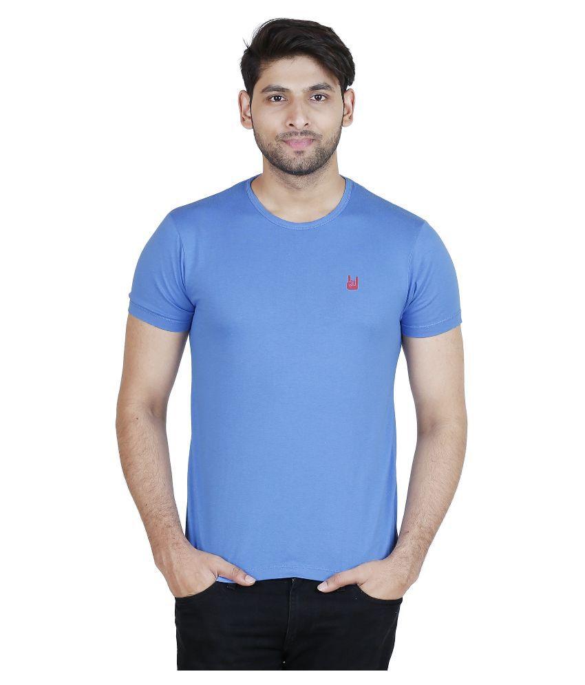 Blumerq Blue Round T Shirt