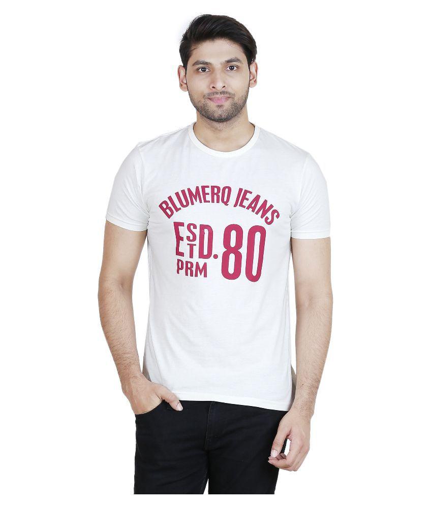 Blumerq Off-White Round T Shirt