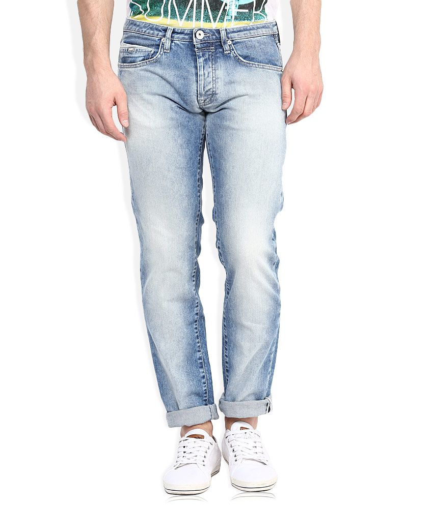 GAS Blue Regular Fit Jeans