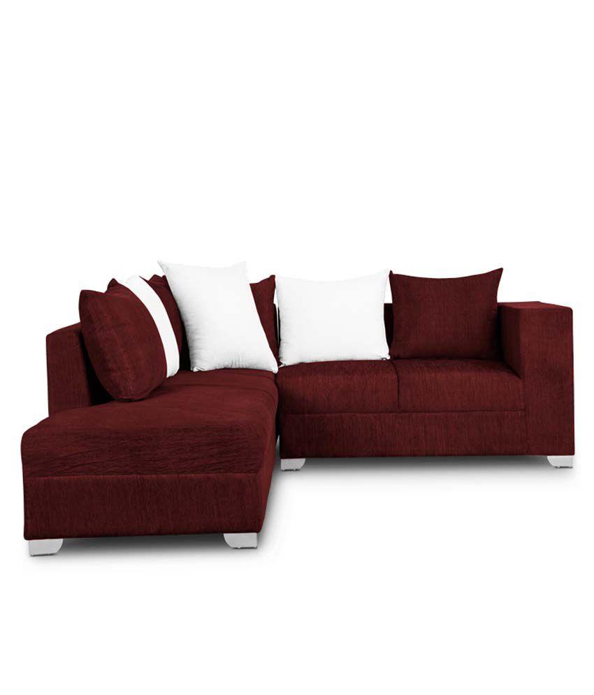 S K Furniture Martine Rio Maroon L Shape Sofa - Buy S K Furniture ...