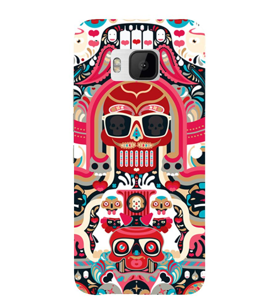 Evaluze pattern Printed Back Case Cover for HTC ONE M9
