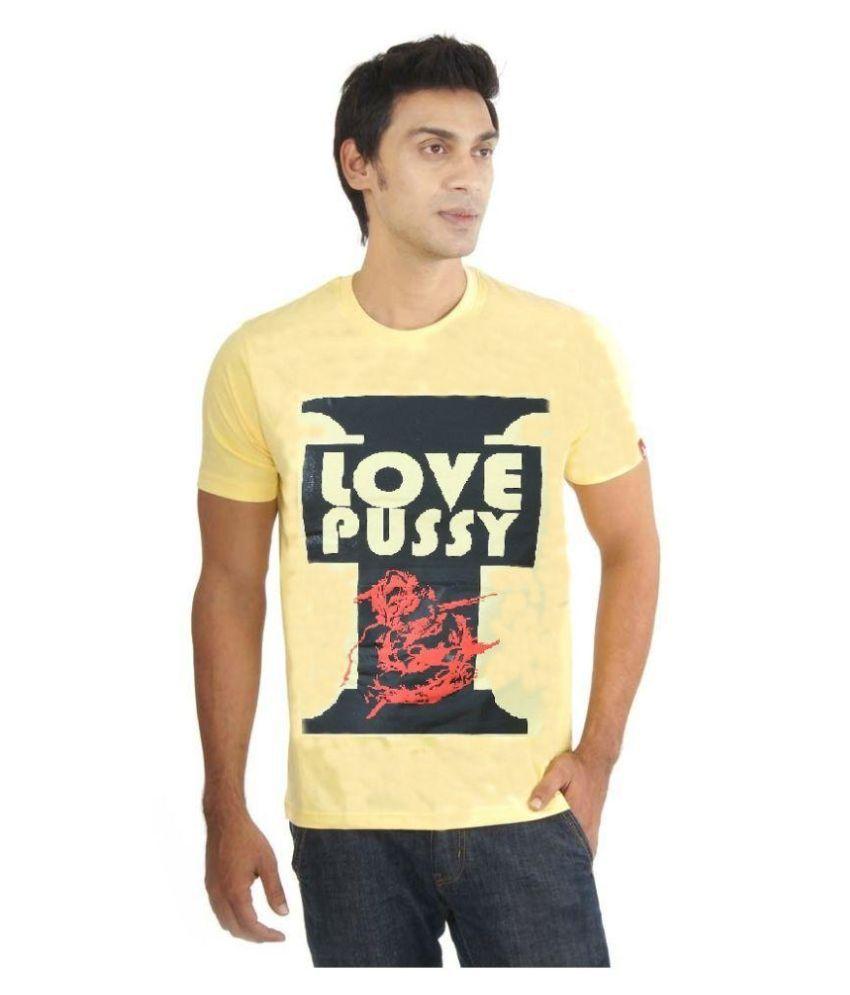 Cougars Yellow Round T Shirt