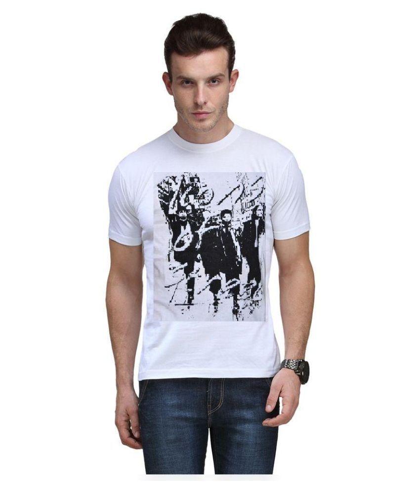 Gs White Round T Shirt