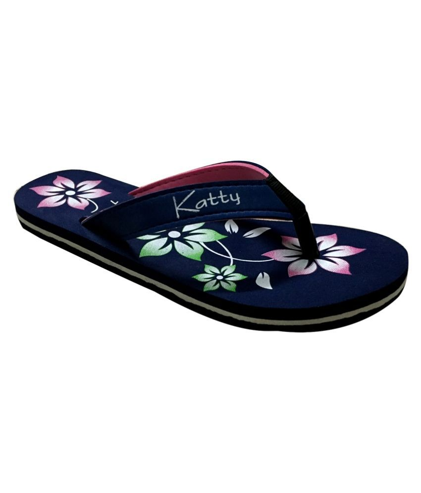 Katty Navy Slippers