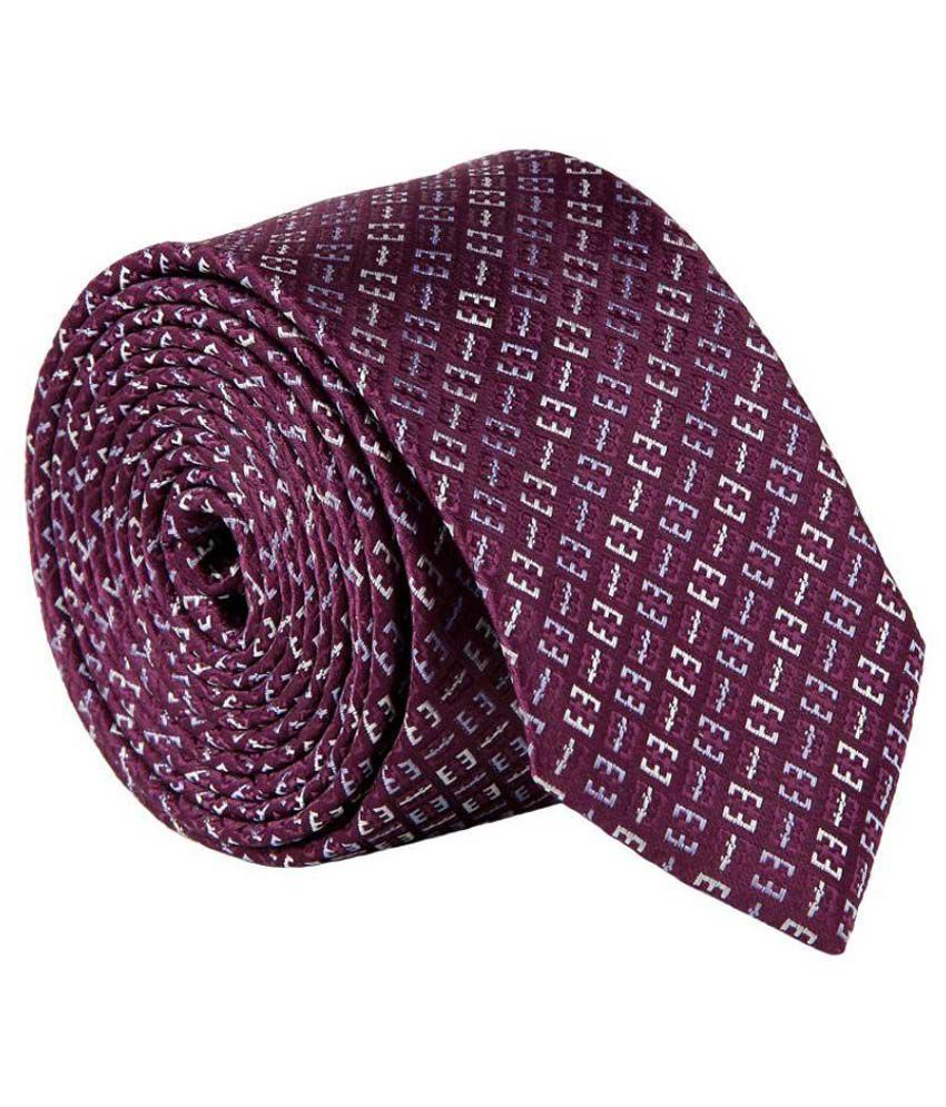 Milano X'Xssories Purple Micro Fiber Necktie for Men