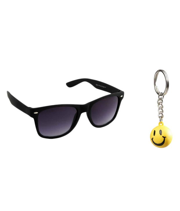 Night Vision Unisex Wayfarer Sunglasses Key Chain Combo