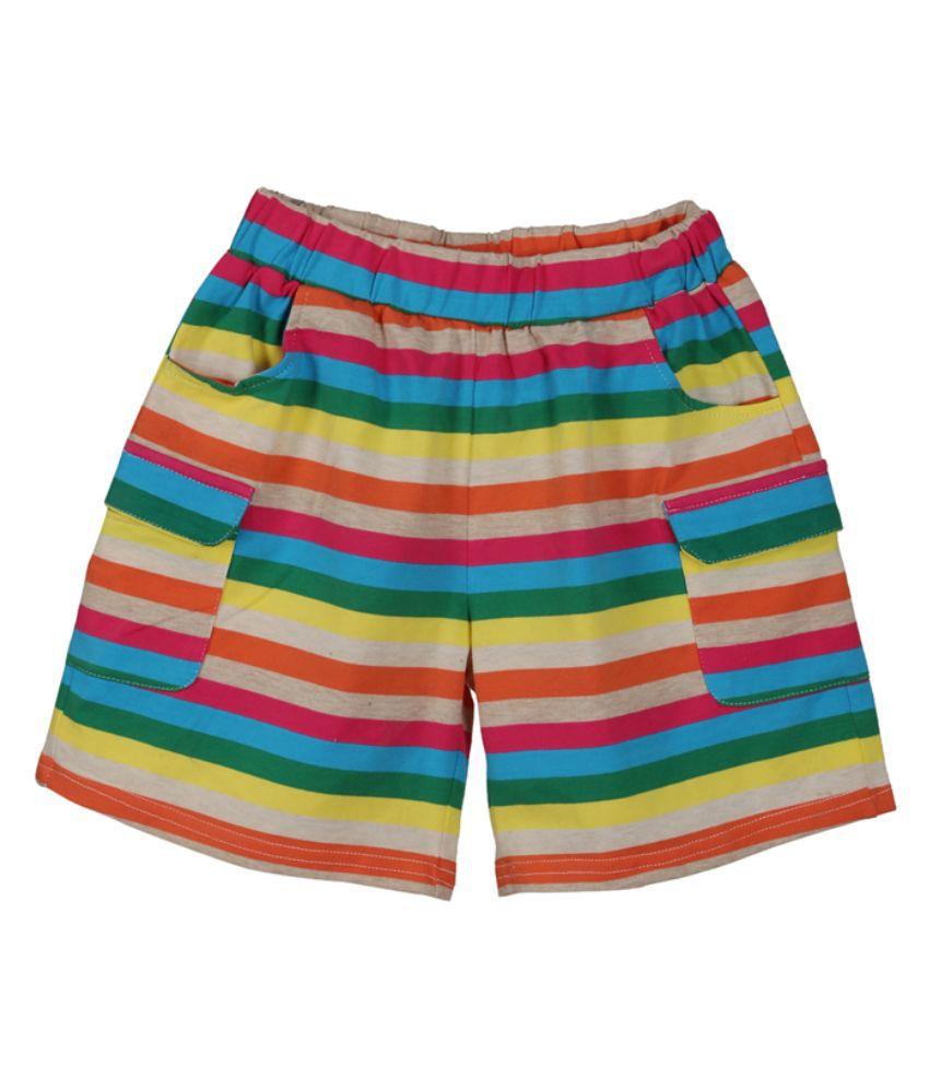 Lilliput Multicolour Cotton Shorts for Girls