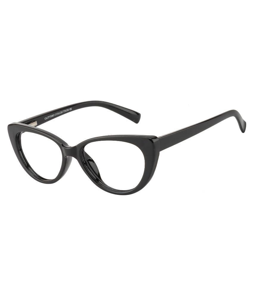 Glitters Black Cateye Spectacle Frame ( B1212C1 )