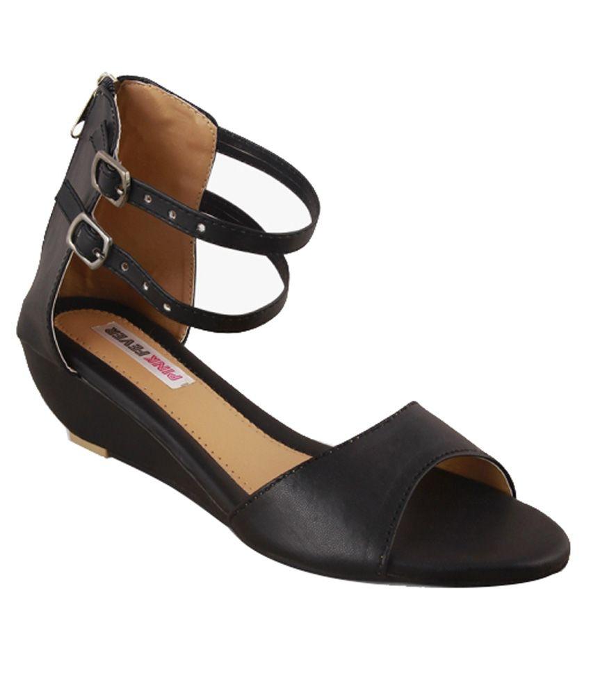 pink fever black wedges heels price in india buy pink