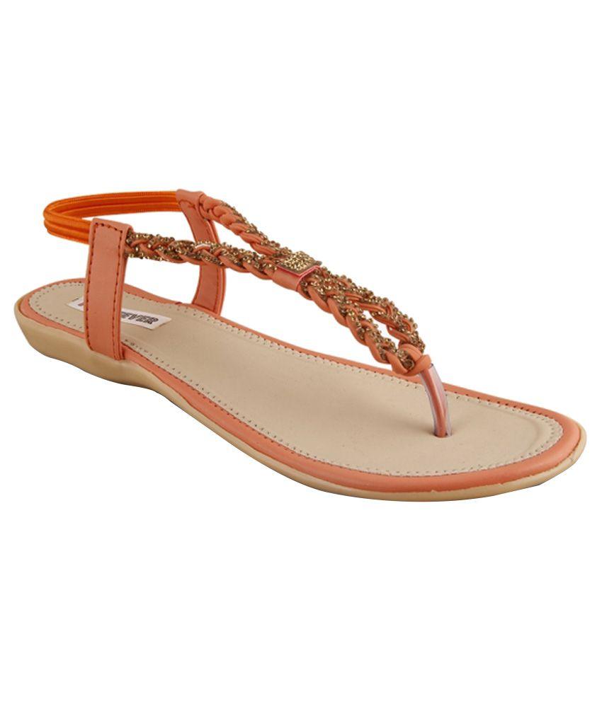 Pink Fever Orange Flats