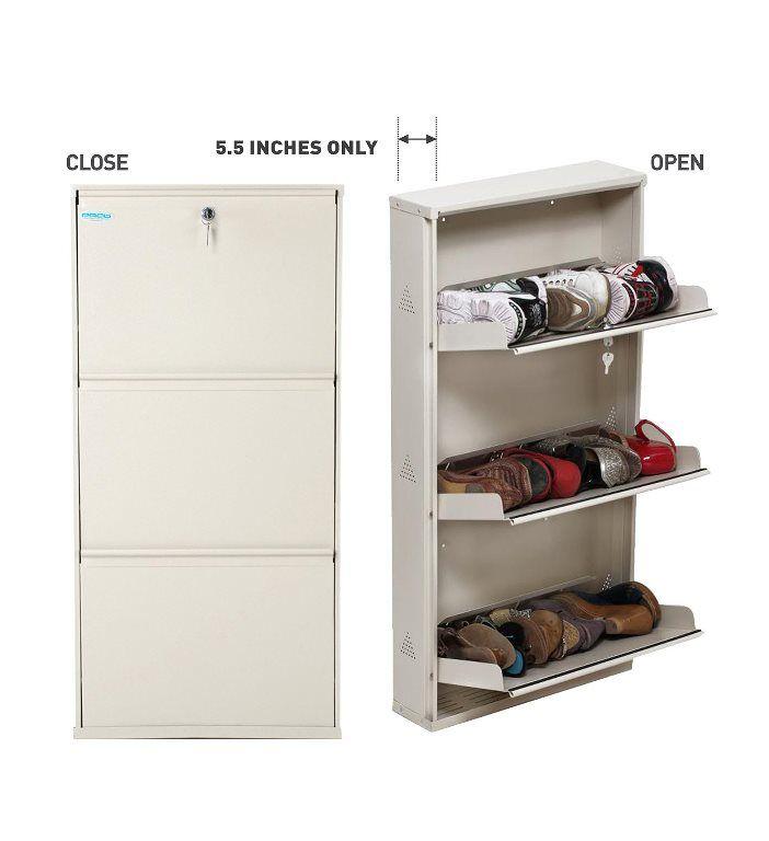 Shoe rack 3 shelf Metal