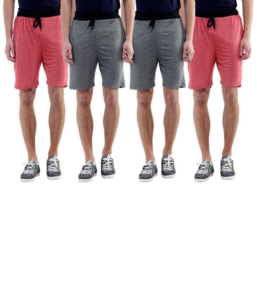 Billu Oye Grey Shorts Pack of 4