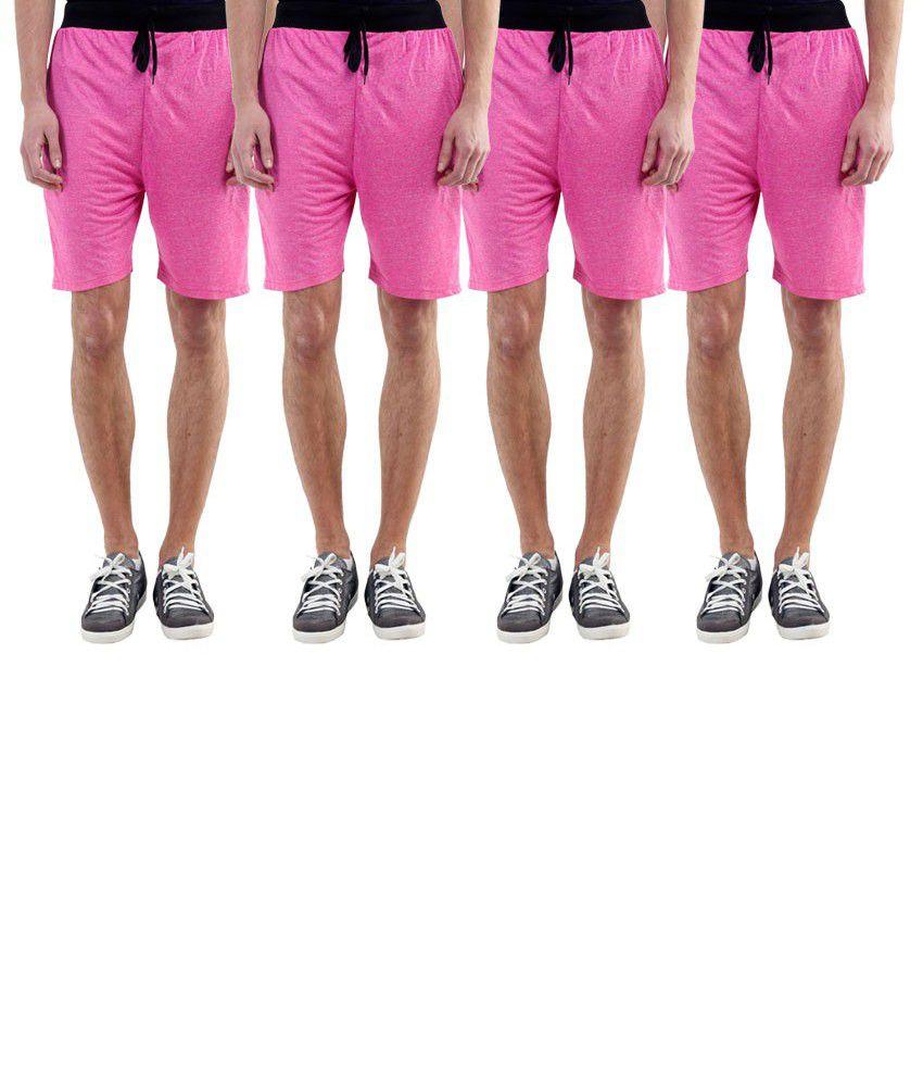Billu Oye Pink Shorts Pack of 4