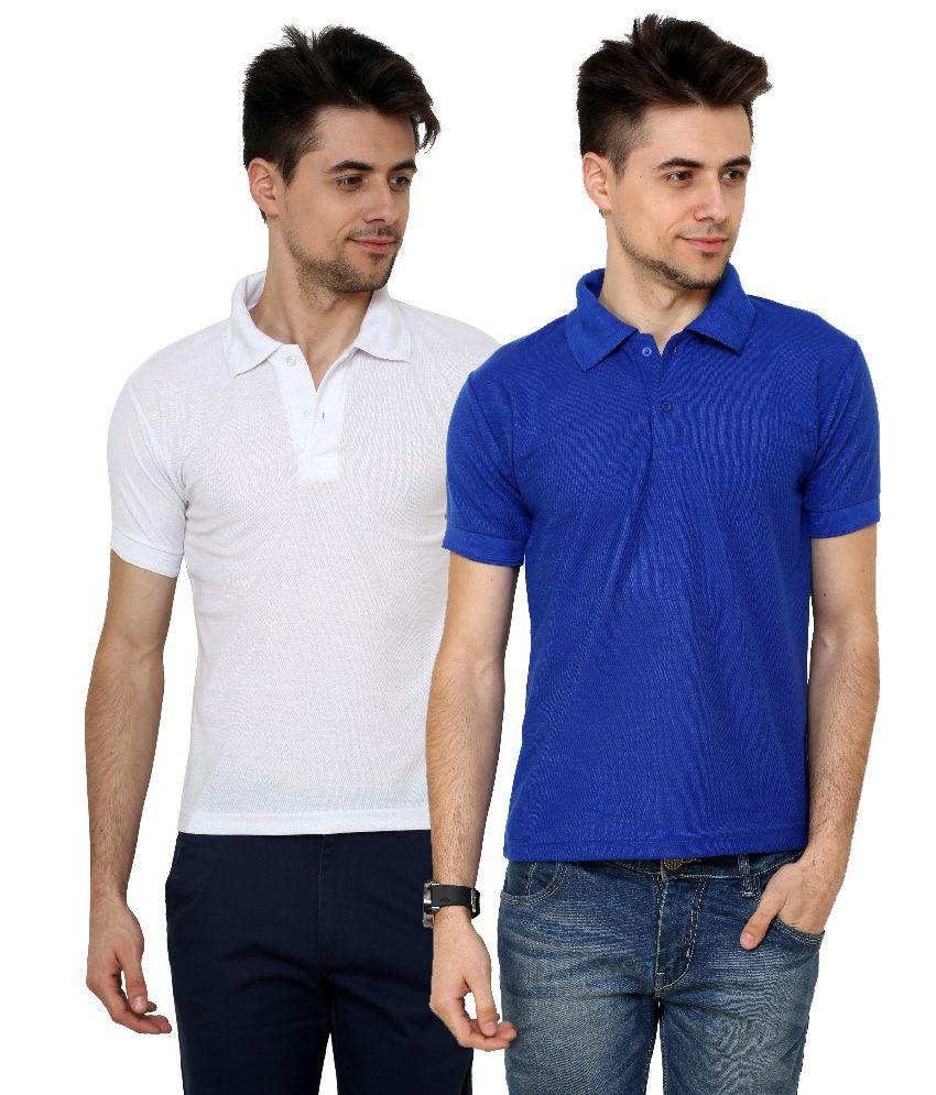 Grand Bear Smart Polo T-shirt For Men (Pack of 2)