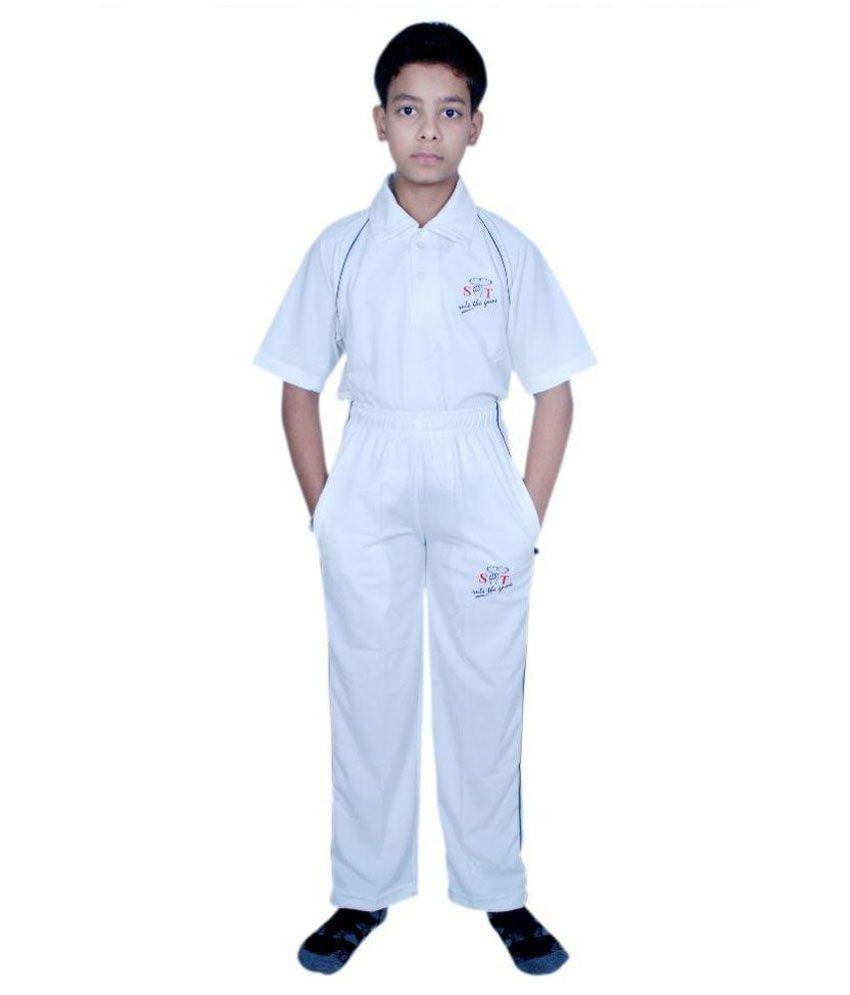 SST White Polyester Cricket Dress