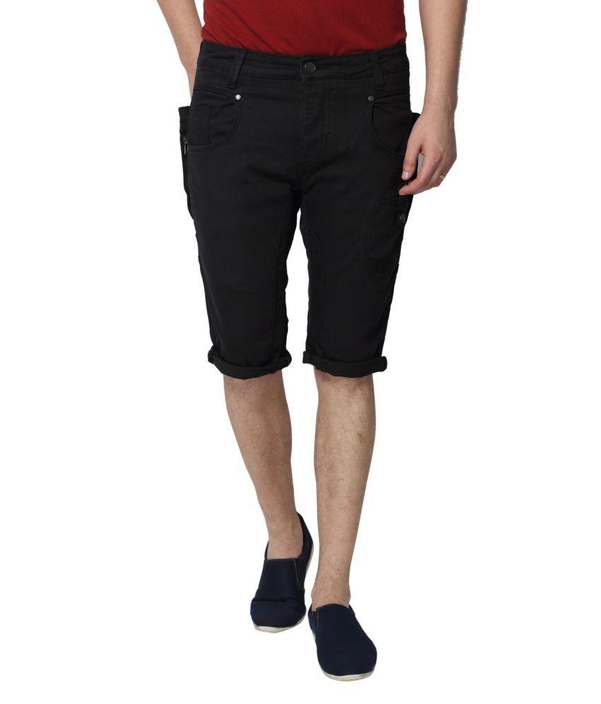 883 Police Black Shorts
