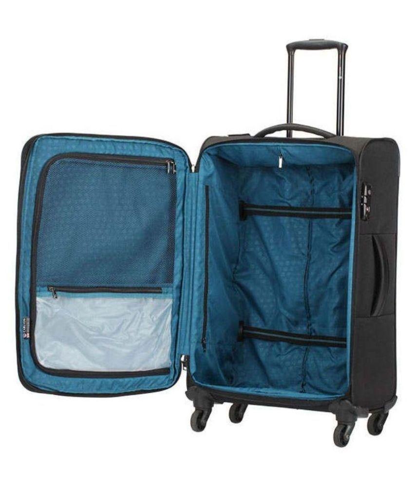 9b95d789c ... Carlton Large (70 Cm & Above) 4 Wheel Soft Black Windsor Luggage Trolley  set ...