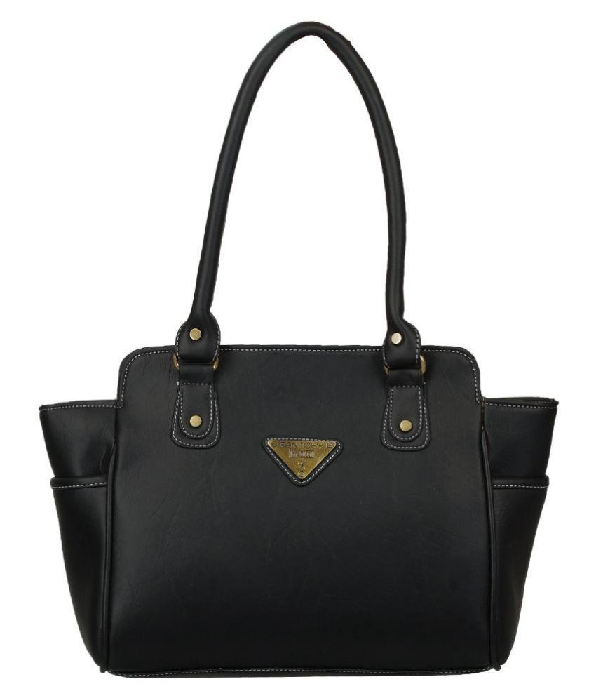 Fantosy Black Fabric Shoulder Bag