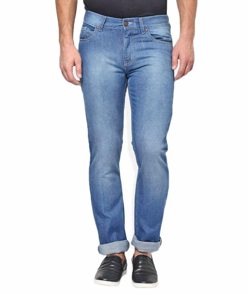 Flying Machine Blue Slim Fit Washed Jeans