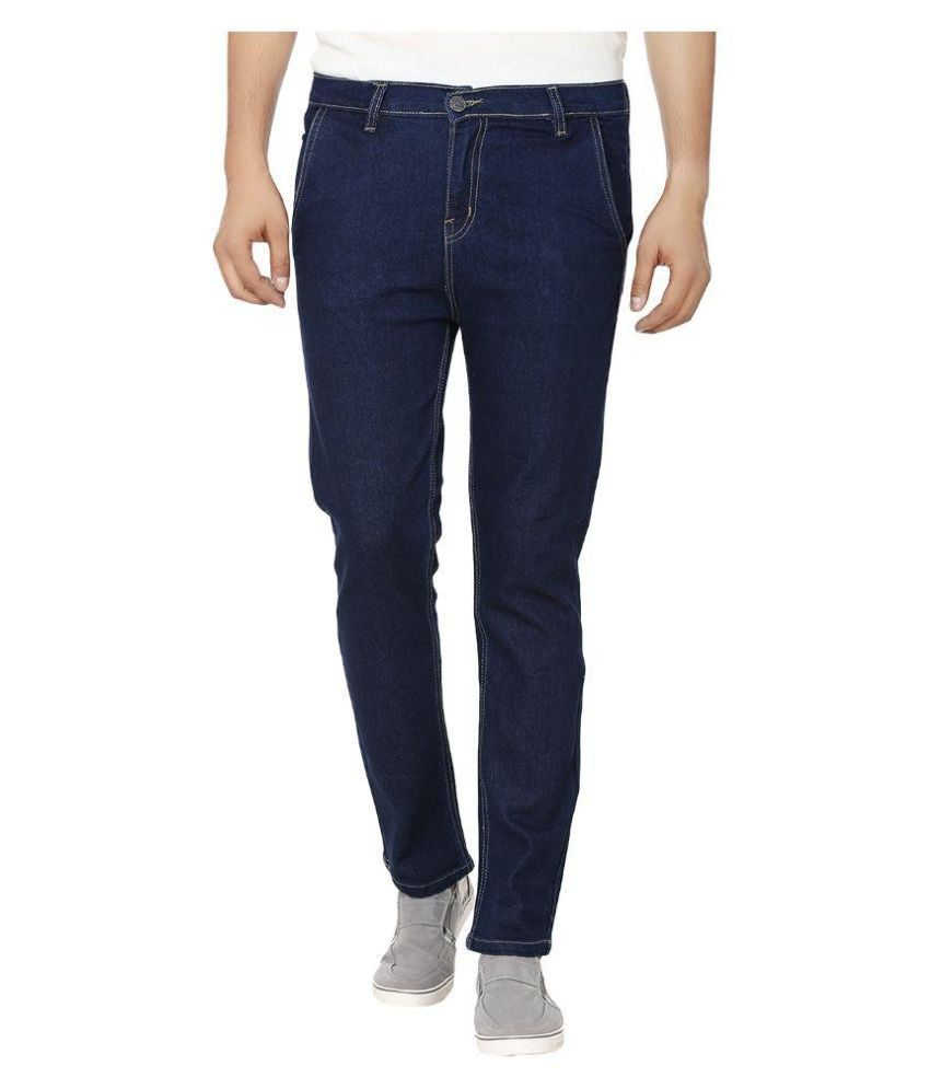 Ben Carter Blue Slim Fit Solid Jeans