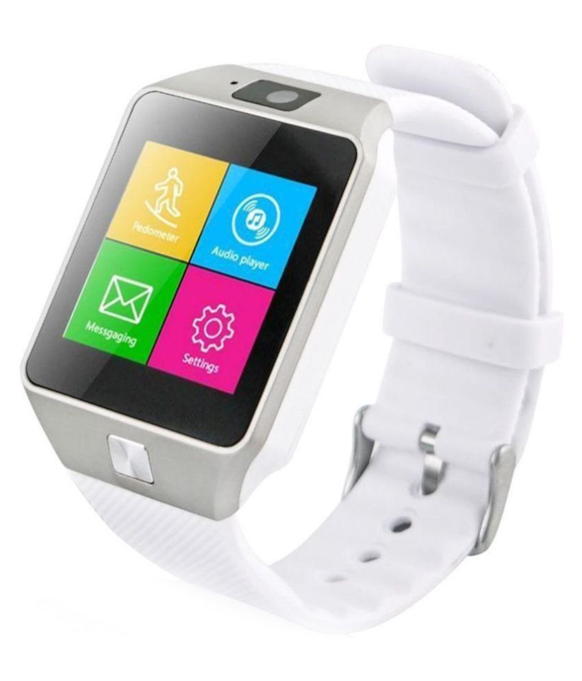ad017b749bd Branded24X7 DZ09 Smartwatch - White - Wearable   Smartwatches Online at Low  Prices