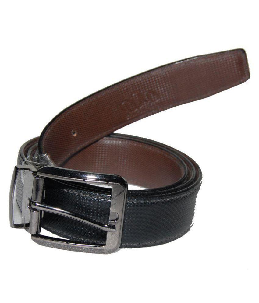 D7D Black Leather Belt