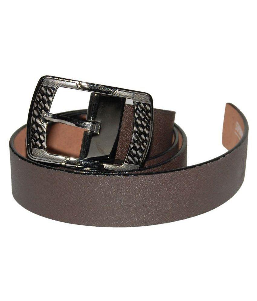 D7D Brown Leather Belt for Men
