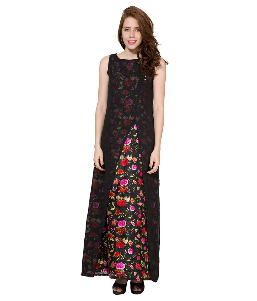 Folklore Black Boat Neck Dress - Buy Folklore Black Boat Neck Dress Online  at Best Prices in India on Snapdeal 39df517e8