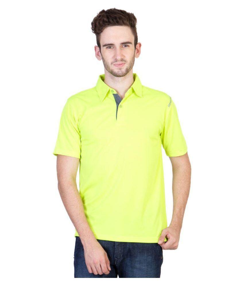 Reebok Green Polo T Shirts