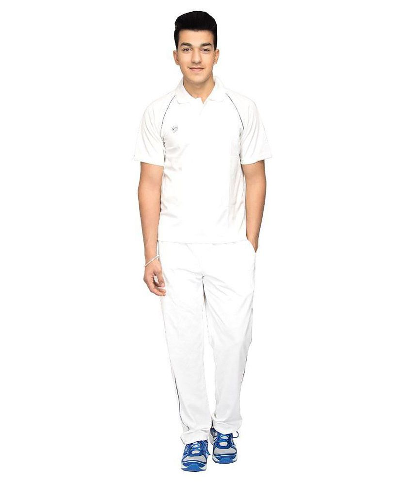SST White Polyester Cricket Dress
