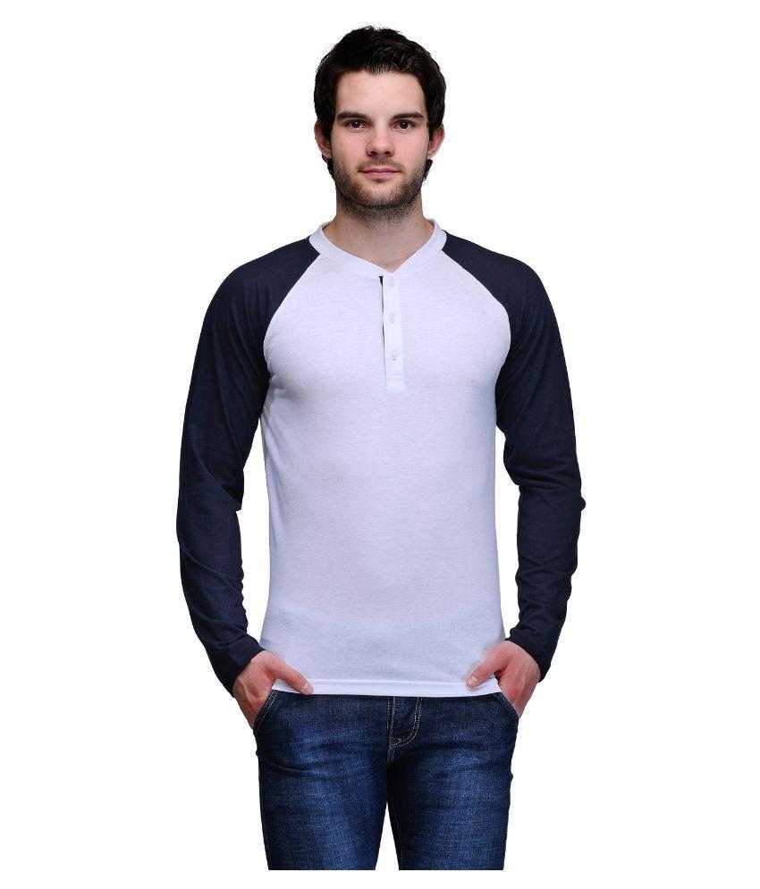 TSX White Henley T Shirt