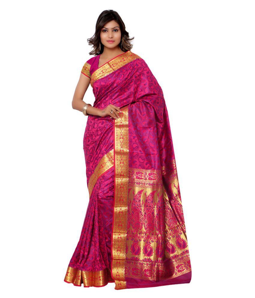 Varkala Silk Sarees Pink Art Silk Saree