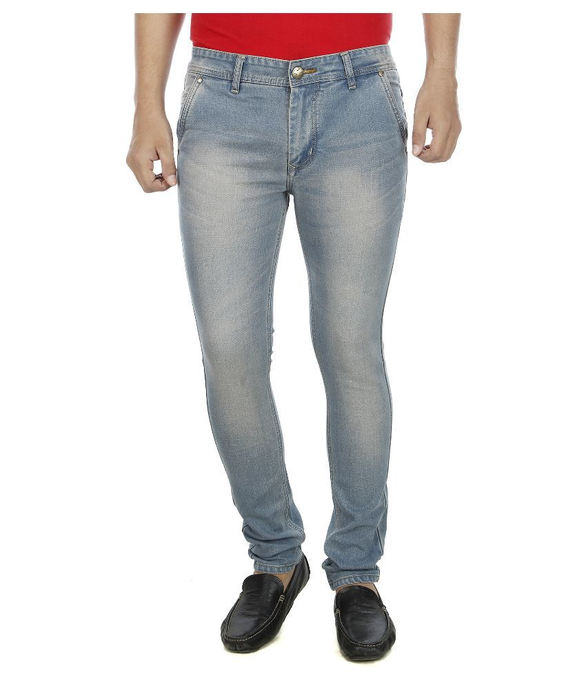 Aliens Valley Blue Slim Fit Faded Jeans