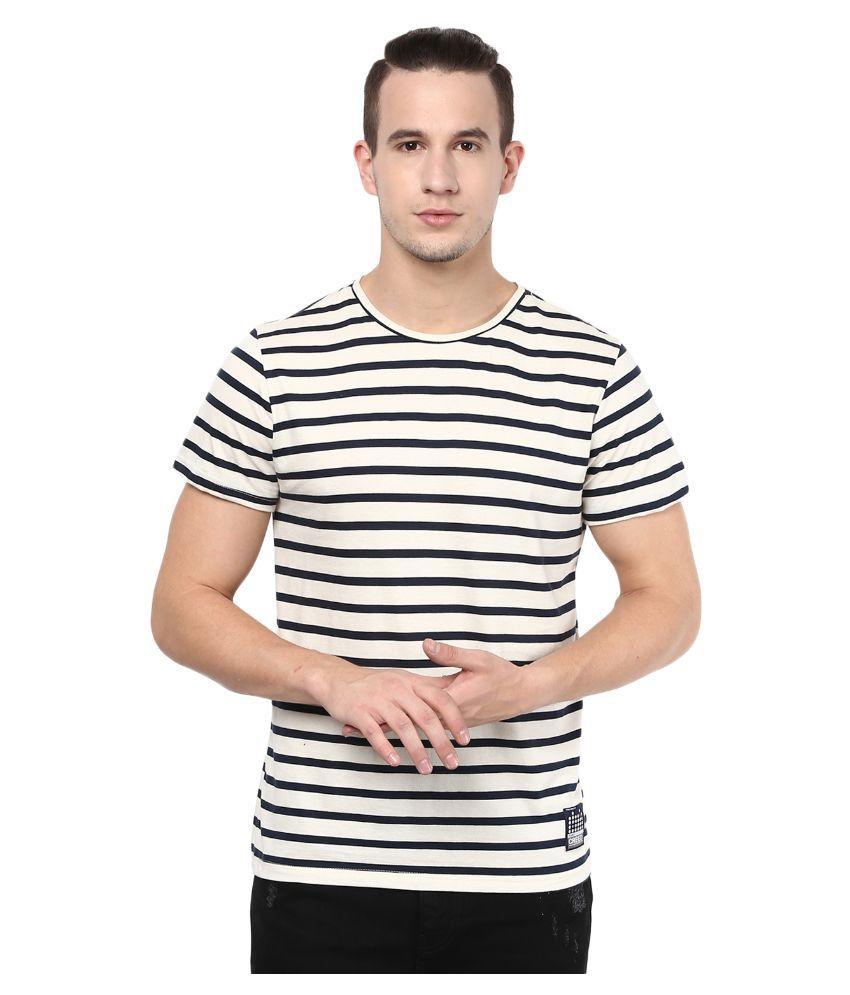 Atorse White Round T Shirt