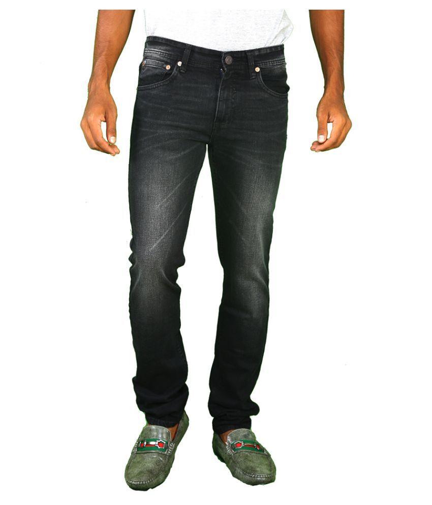 Levi's Black Slim Fit Faded Jeans