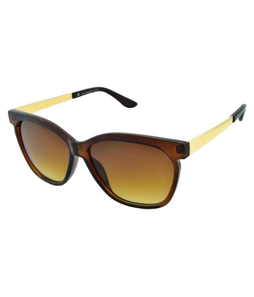 Red Knot Brown Wayfarer Sunglasses ( 6193 )