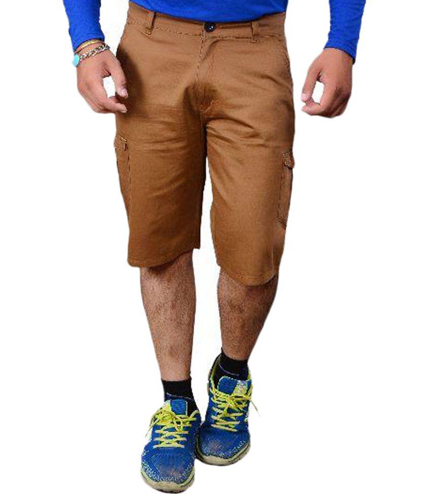 Refocus Brown Shorts