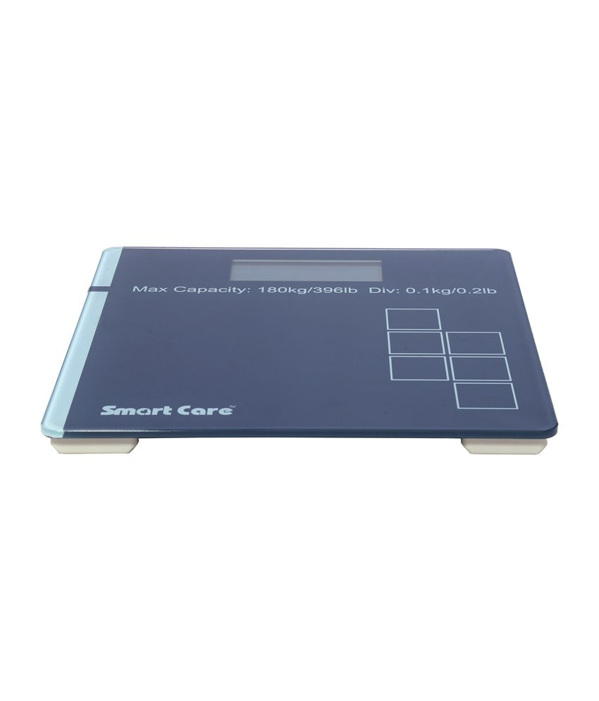 Smart Care DIGITAL WEIGHTING SCALE SCS210 GLASS TOP Black