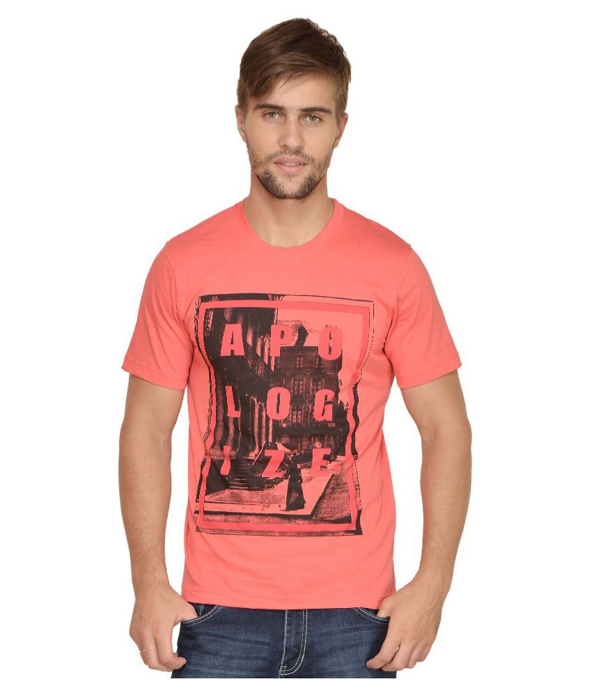 Urban Colors Peach Round T Shirt