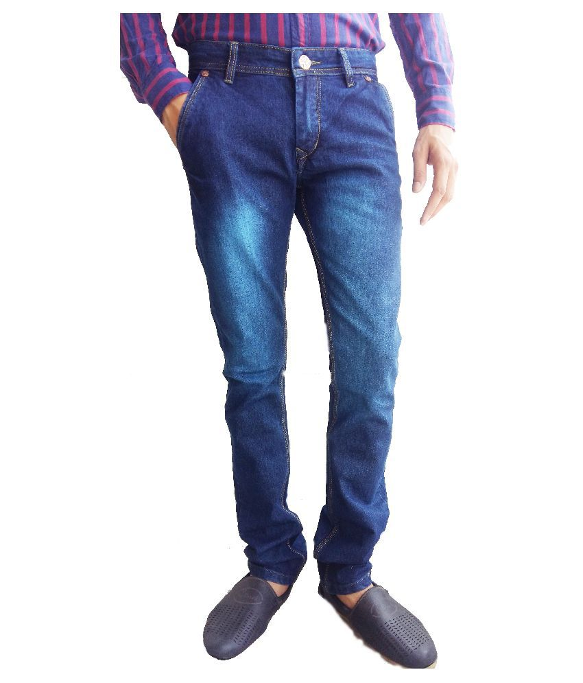 Adron Blue Slim Fit Washed Jeans