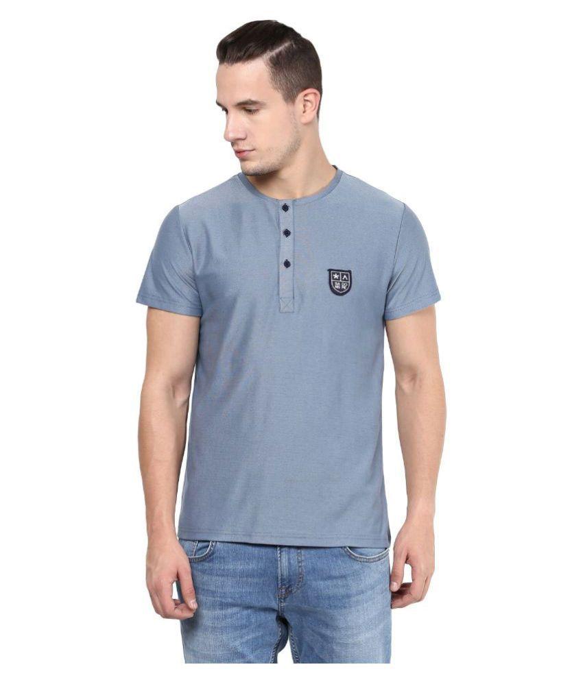 Atorse Grey Henley T Shirt