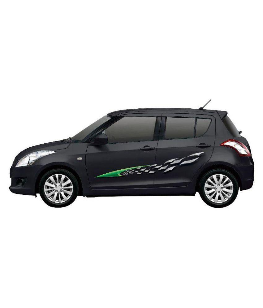 Car sticker design online india -  Autographix Multicolor Polymer Universal Car Sticker
